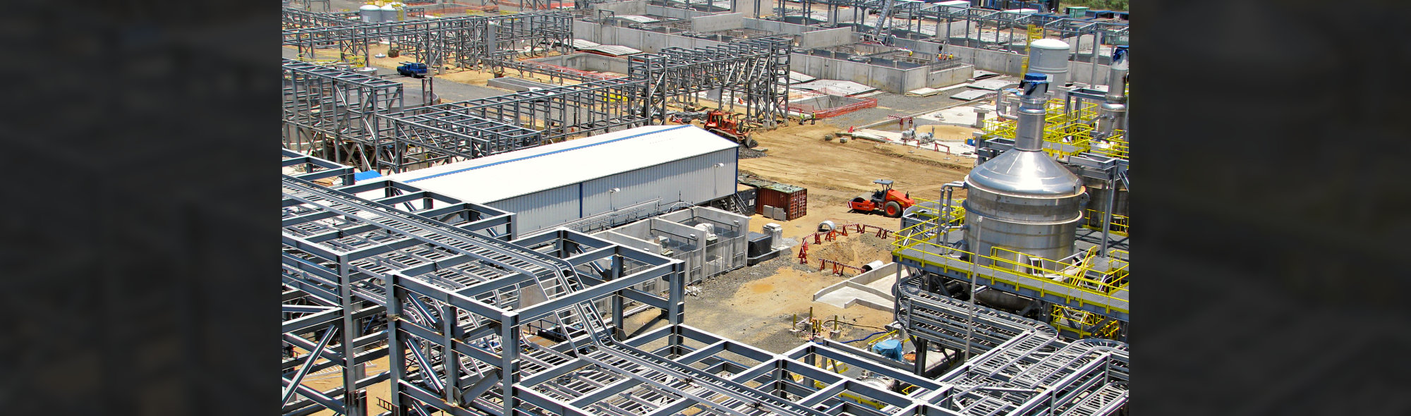 industrial construction of structural steel